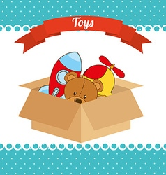 toys box vector image