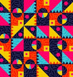 Geometric seamless pattern with colorful shapes vector image