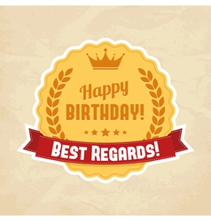 For happy birthday card vector