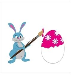 Easter bunny paint easter egg vector