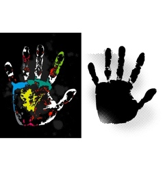 Abstract grunge hand style art vector image vector image