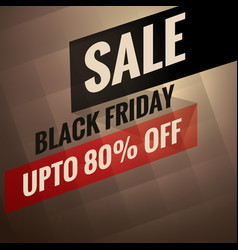 Black friday sale banner with discount option vector