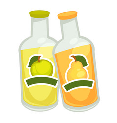 bottles with fizzy drin vector image