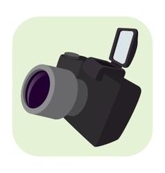 Camera cartoon icon vector image