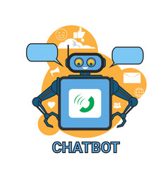 Chatbot icon concept support robot technology vector