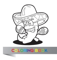 Coloring book with Mexican theme - vector image