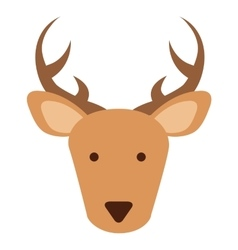 Cute reindeer isolated icon design vector