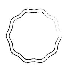 emblem stamp sticker blank design vector image vector image