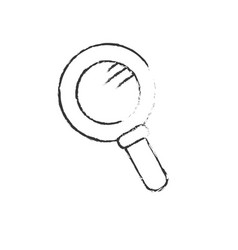 figure magnifying glass tool to explore vector image