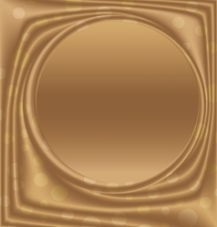gold picture frame center of the circle vector image vector image