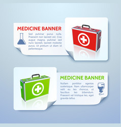 healthcare horizontal banners vector image
