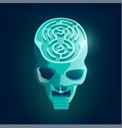 Maze skull vector