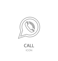 Phone icon in speech bubble vector image