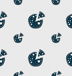 Pizza Icon Seamless pattern with geometric texture vector image