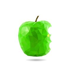 polygon apple vector image vector image