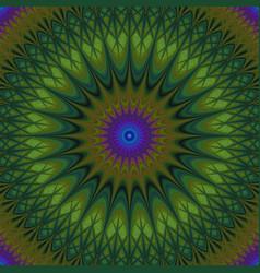 Psychedelic mandala fractal background - vector