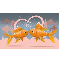 Romantic fish vector image vector image