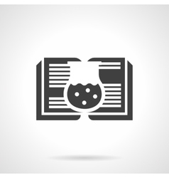Scientific literature glyph style icon vector image