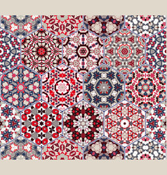 Set of hexagonal elements vector