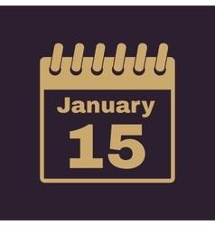 The calendar icon Calendar symbol vector image vector image