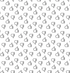 Thumb up thumb down seamless pattern vector image vector image
