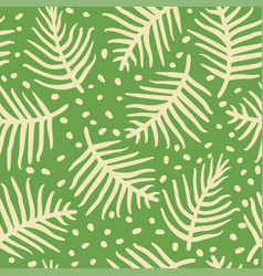 tropical palm or ferm leaves seamless pattern vector image