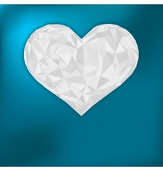 Valentine heart from paper EPS 8 vector image