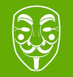 vendetta mask icon green vector image