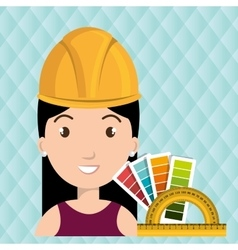 Woman architecture rules color vector