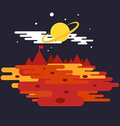 Conquest of space of the mars space elements vector
