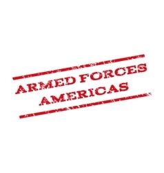 Armed forces americas watermark stamp vector