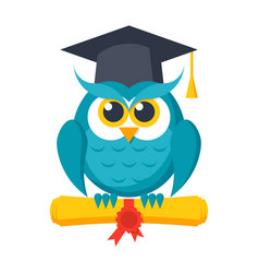 wisdom icon with owl vector image