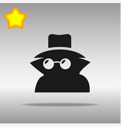 black incognito icon button logo symbol vector image