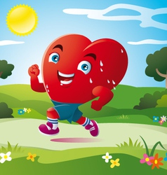 Sport of heart vector