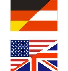 Combined flags us-uk germany-austria vector