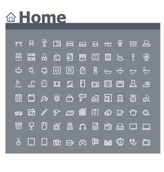 Home related icon set vector