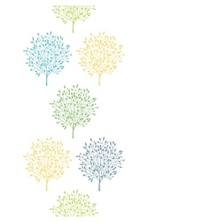 Summer trees colorful vertical seamless pattern vector