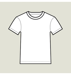 Roundneck T shirt Template vector image
