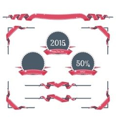 New year page decorations vector