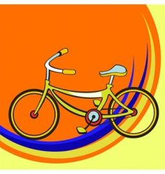 funny bicycle vector image