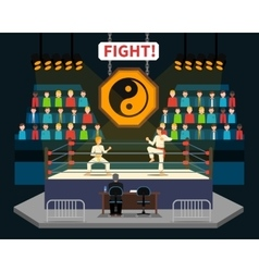 Martial arts fight vector