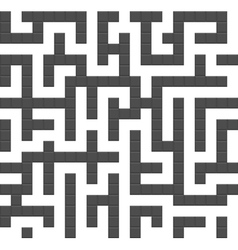 Infinite maze seamless background pattern vector