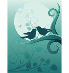 birds in the garden vector image vector image