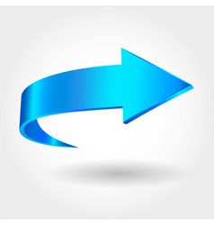 Blue arrow vector image vector image