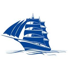 brigantine ship vector image