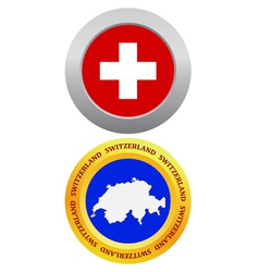 button as a symbol SWITZERLAND vector image vector image
