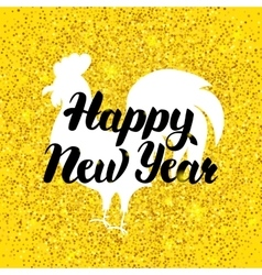 Chinese New Year Gold Poster vector image