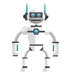 Colorful white robot icon vector