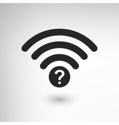 Creative WiFi Attention vector image