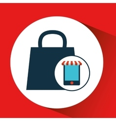 digital e-commerce bag gift design icon vector image vector image